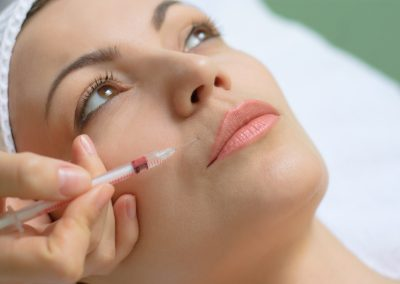 Wrinkle treatment with Botox and fillers